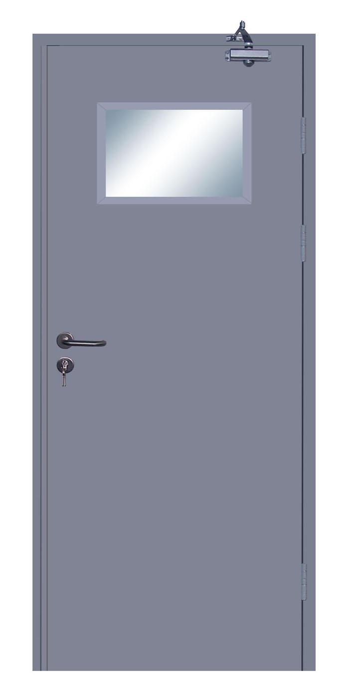 钢质单扇平开门